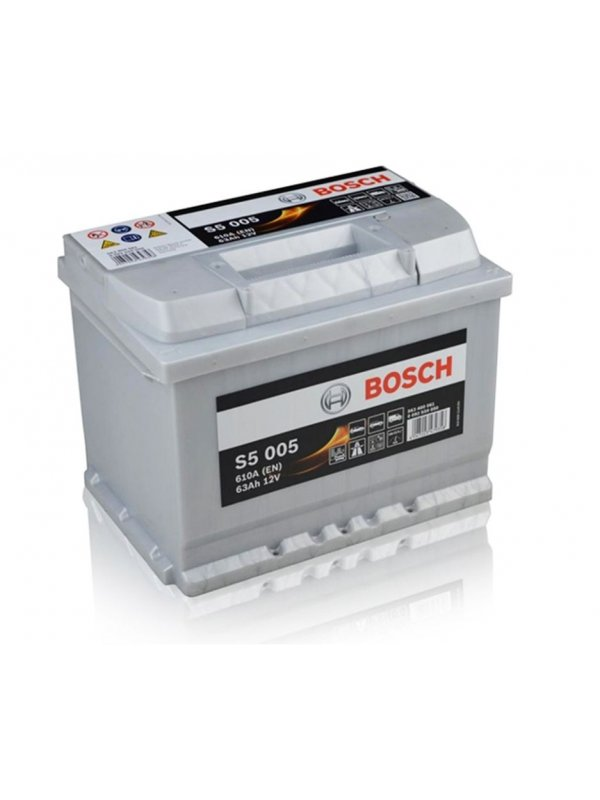 Μπαταρία αυτοκινήτου Bosch S5005 63Ah 242x175x190