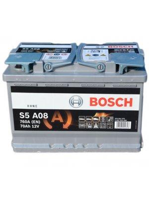 Μπαταρία αυτοκινήτου Bosch AGM start-stop S5A08 70ah 278x175x190
