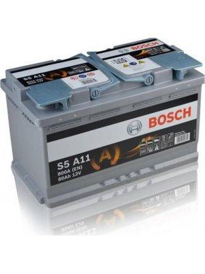 Μπαταρία αυτοκινήτου Bosch AGM start-stop S5A11 80ah 315x175x190